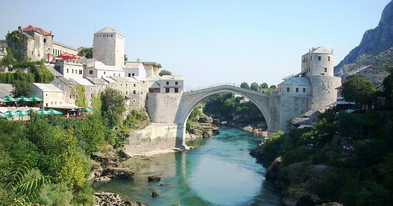 Ponte a Mostar in Bosnia Erzegovina