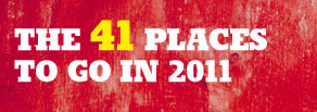 41 posti da visitare nel 2011