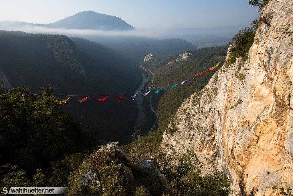 Amache sospese scalatori in Bosnia-Erzegovina