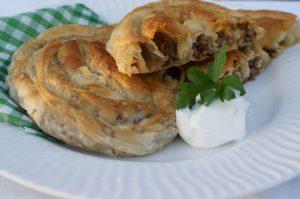 Burek piatto nazionale bosniaco