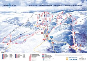 Cartina impianto sciistico Jahorina