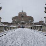Castello di Sant'Angelo imbiancato