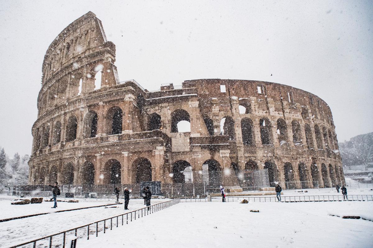 Tour a piedi Roma imbiancata
